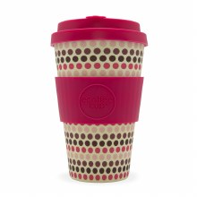 Pink Polka Reusable Coffee Cup