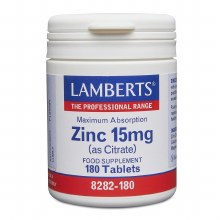 ZINC 15mg (as Citrate) 180s