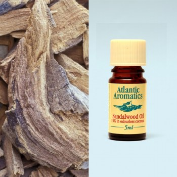 Sandalwood Oil Diluted 15% in Coconut Oil
