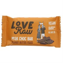 Love Raw Peanut Butter Milk Chocolate Bar