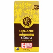 Org Dark Almond Chocolate 55%
