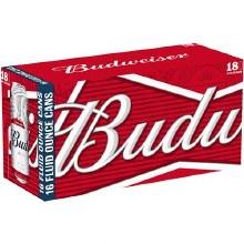 Budweiser 18pk Cans