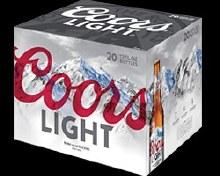 Coors Light 20pk Bottles
