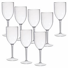Plastic Wine Glasses 20pk