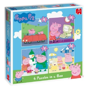 6958 PEPPA PIG 4 BOX PUZZLE