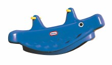 L/T WHALE TEETER TOTTER BL