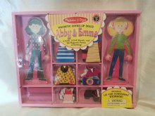 ABBY & EMMA MAGNETIC WOODEN