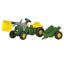 ROLLY JD TRACTOR/LOADER/TRAILE
