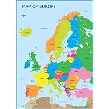 MAP OF EUROPE WALL CHART