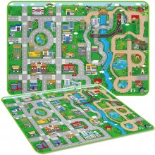CITY PLAYMAT WITH 4 CARS