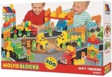 MOLTO BLOCKS CITY TRUCKS 200PC