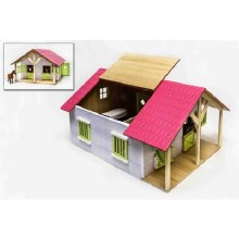 1:24 PINK WOODEN STABLE