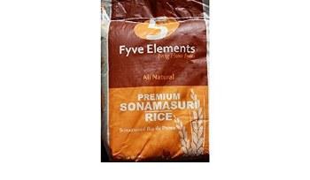 Fyve Elements Sona Masoori Rice 20 Lb