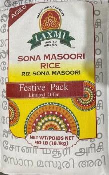 Laxmi Sona Masori Rice 40 Lbs