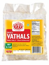 777 Dried Vathals 100 g