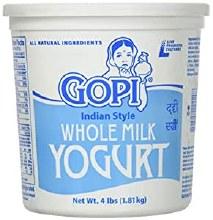 Gopi Whole Milk Yogurt 4 lb