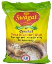 Swagat Crystal Sona Masoori  Rice 20 Lb