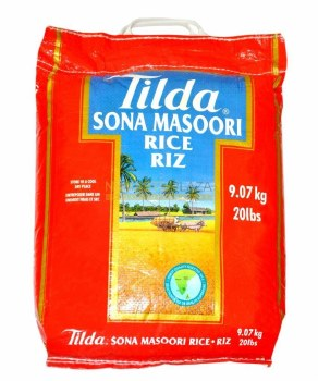 Tilda Sona Masoori Rice 20 Lb