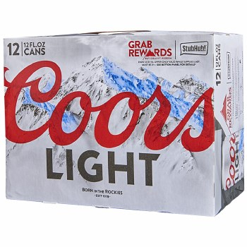 Coors Light 12pk Can
