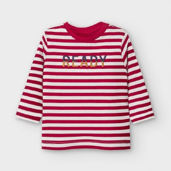 LONG SLEEVE CREW NECK STRIPED READY TEE