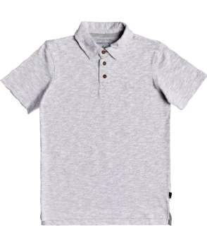 BUTTON UP POLO 10 GRAY