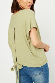 Back Tie Top Lg Green