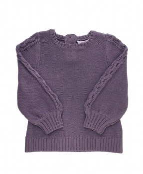 CABLE BISHOP SWEATER
