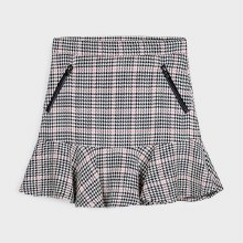 HOUNDSTOOTH SKIRT ADJUSTABLE WAIST