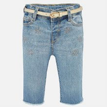 CROPPED FLARED JEANS 9MOS BLCH