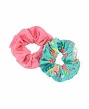 2 PACK FLOWER PATCH SCRUNCHIES