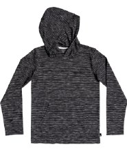 STRIPED HOODED SHIRT 8 BLACK