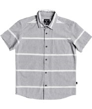 STRIPED BUTTON UP  8 GRAY
