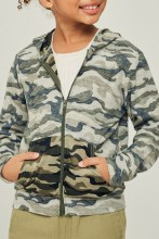 CAMO ZIP UP JACKET