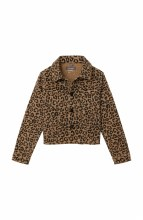 LEOPARD DENIM JACKET SM TAN
