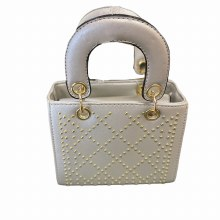 QUILTED STUD BAG