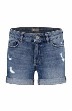 DORADO CUFFED SHORT 7 DENIM