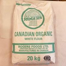 Organic White Flour, 20 kg - Roger's Brand
