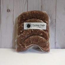 Four Quarters Turkey and Sage Sausage, 4 pack, frozen