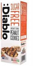 Choc Striped Peanut Cookies