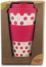 Pink Polka Reusable Coffee Cup