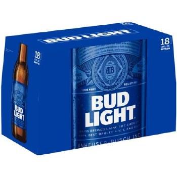 Bud LIght: 18 Pack (Bottles)