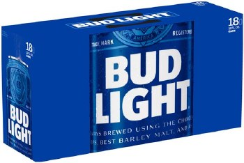 Bud Light: 18 Pack (Cans)