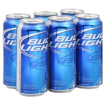 Bud Light: 6 Pack (16oz Cans)