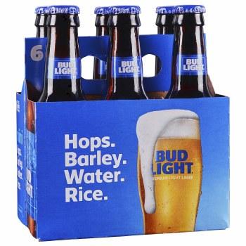 Bud Light: 6 Pack (7oz Bottles)