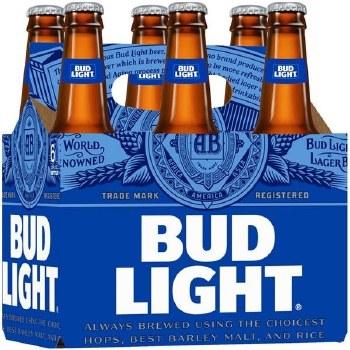 Bud Light: 6 Pack (Bottles)