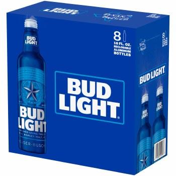 Bud Light: 8 Pack (16oz Aluminum Bottles)