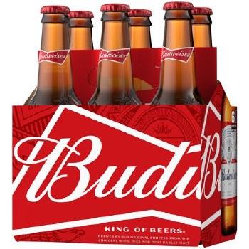 Budweiser: 6 Pack (Bottles)