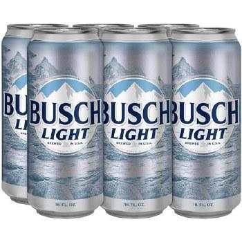 Busch: Light (6 Pack 16oz Cans)