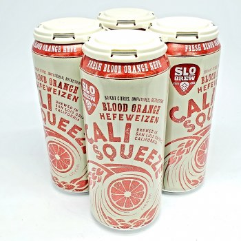 SLO Brew: Cali Squeeze Blood Orange 4 Pack Cans