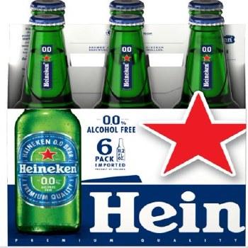 Heineken: 0.0 NA (6 Pack Bottles)